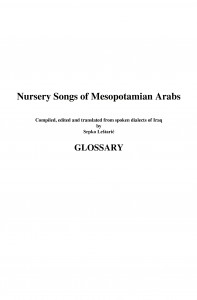 Nursery_Songs_of_Mesopotamian_Arabs_-_Glossary-1