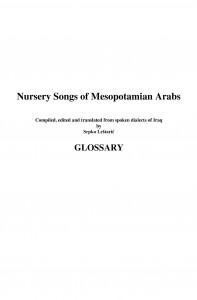 Nursery_Songs_of_Mesopotamian_Arabs_-_Glossary-1