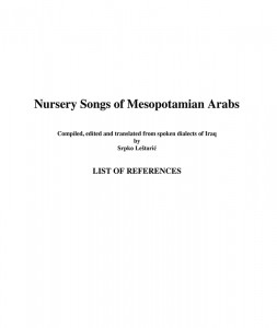 Nursery_Songs_of_Mesopotamian_Arabs_-_REFERENCES-1